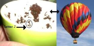 Hot-air Balloon Tea Leaf Symbol