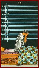 Nine of Swords Tarot Card